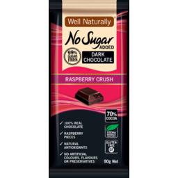 Photo of Well Naturally Nsa Dark Choc Raspberry Crush 90g