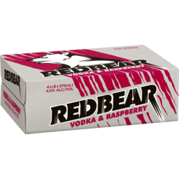 Photo of Red Bear Raspberry Cans