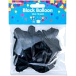 Photo of Party Star Black Balloon 25cm 18 Pack