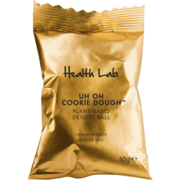 Photo of Health Lab Uh Oh Cookie Dough Plant-Based Dessert Ball 30g