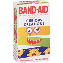 Photo of Band Aid Curious Creations Waterproof Strips 15 Pack