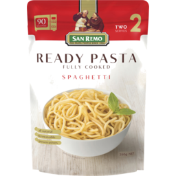 Photo of San Remo Ready Pasta Spaghetti Fully Cooked 250g