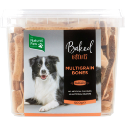 Photo of The Natural Paw Company Multigrain Bones Baked Biscuits For Dogs 500g