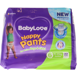 Photo of Babylove Nappy Pants Junior 22s