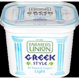 Photo of Farmers Union Greek Style Light Natural Yogurt 1kg