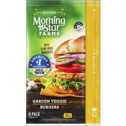 Photo of Morningstar Farms Garden Veggie Burgers 268g