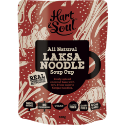 Photo of Hart & Soul All Natural Laksa Noodle Soup Cup 100g