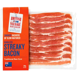 Photo of British Bacon Strky Smkd 200gm