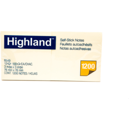 Photo of Highland Notes:3 X 3 - Yellow