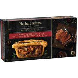 Photo of Herbert Adamas Slow Cooked Beef With Portabello Mushroom & Merlo 2pk 400gm