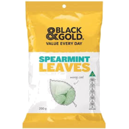 Photo of Black And Gold Spearmint Leaves 200gm
