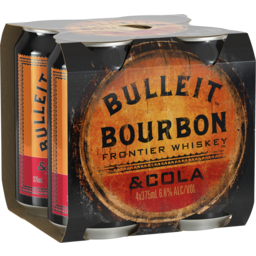 Photo of Bulleit Bourbon & Cola 6% Can 4 Pack