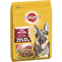 Photo of Pedigree High Protein Dry Dog Food With Real Beef & Lamb 7kg Bag