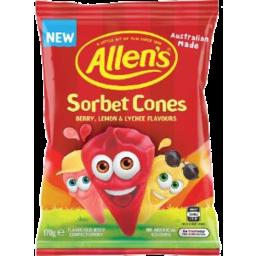 Photo of Allens Sorbet Cone 170gm