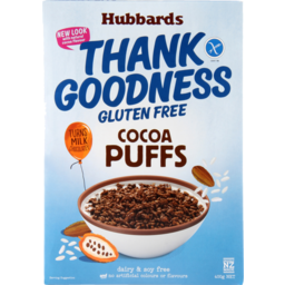 Photo of Hubbards Thank Goodness Cereal Gluten Free Cocoa Puffs 400g
