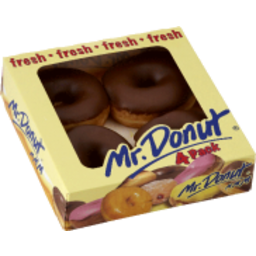 Photo of Mr Donut Choc Ring Donuts 4pk