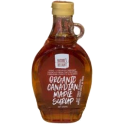 Photo of 	NATURE'S DELIGHT ORGANIC PURE MAPLE 250ML