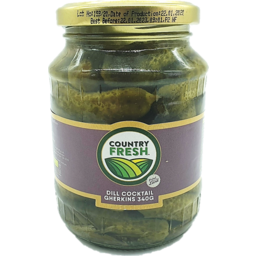 Photo of Country Fresh Dill Cocktail Gherkins 340g