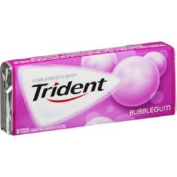 Photo of Trident Bubble Gum Sugar Free Gum - 18 Ct