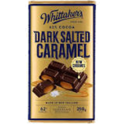 Photo of Whittakers Dark Caramel Choc Block 250g