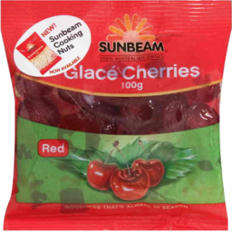 Photo of Sunbeam Glace Cherries 100g Red