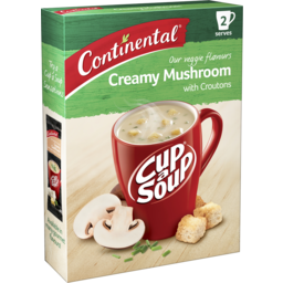 Photo of Continental Cup A Soup Creamy Mushroom With Croutons 2 Pack 50g 50g