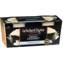 Photo of Wicked Sister Creamy Coconut Rice Pudding 2x170g