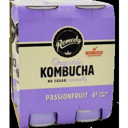 Photo of Remedy Kombucha Pfruit 250ml 4pk