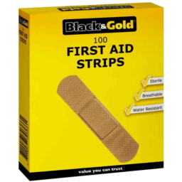 Photo of Black & Gold Plasters First Aid Strips 100