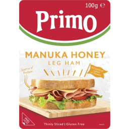 Photo of Primo Thinly Sliced Manuka Honey Sweet Leg Ham 100g