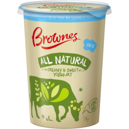 Photo of Brownes Low Fat Yoghurt Natural 1kg