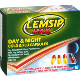 Photo of Lemsip Cold & Flu Max Day & Night 16 Pack