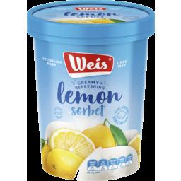 Photo of Weis Sorbet Lemon 1lt