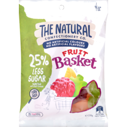 Photo of The Natural Confectionery Co. Fruit Basket Reduced Sugar Lollies 220g