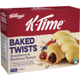 Photo of Kelloggs K-Time Twists 5 Bars Strawberry & Blueberry 185g