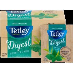 Photo of Tetley Green Tea Mint Super Infusions 16pk