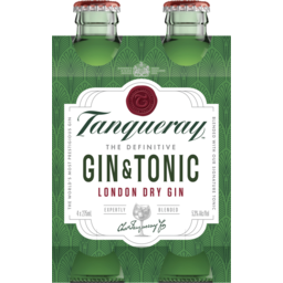 Photo of Tanqueray Gin & Tonic Bottle 275ml 4 Pack