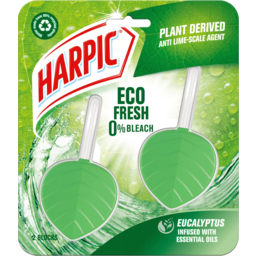 Photo of Harpic Eco Fresh Eucalyptus Infused With Essential Oils In The Bowl Toilet Cleaner 2 Pack