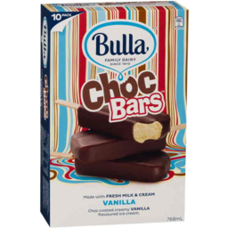 Photo of Bulla Choc Bars Vanilla 10pk
