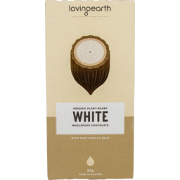 Photo of LOVING EARTH:LE White Chocolate 80g