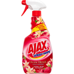 Photo of Ajax Spray N' Wipe Multipurpose Kitchen & Bathroom Household Cleaner Trigger Spray Vanilla & Berries 475ml