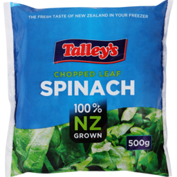 Photo of Talley's Frozen Spinach Portions 500g
