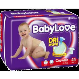 Photo of Babylove Nappies Crawler 6-11kg 44pk