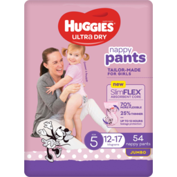 Photo of Huggies Ultra Dry Nappy Pants For Girls 12-17kg Size 5 Jumbo 54 Pack