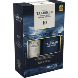 Photo of Talisker 10yo Whisky & Hip Flask Gift Pack