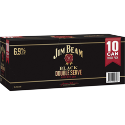 Photo of Jim Beam Black & Cola Double Serve 6.9% 375ml 3x10 Pack