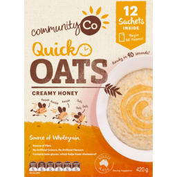 Photo of Community Co Quick Oats Honey 420g