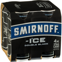 Photo of Smirnoff Ice Double Black 375ml Can (4 Pack)