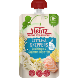 Photo of Heinz Little Skippers Cauliflower & Salmon Risotto 8m+ Baby Food Pouch 120g