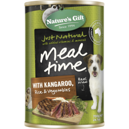 Photo of Natures Gift Meal Time With Kangaroo, Rice & Vegetables 700g